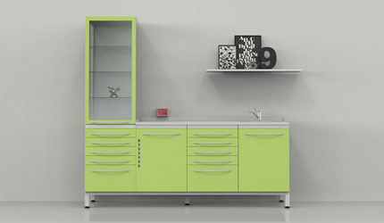 Furniture for hospital cabinets