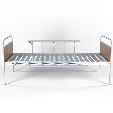 Single-section bed with fixed backs