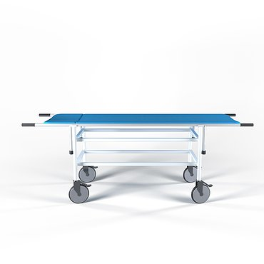 Cart for patients transportation (with stretcher) with matress