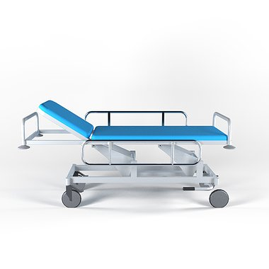 Cart for patients transportation with height adjustment