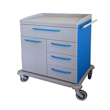 Mobile cabinet with 4 drawers and door