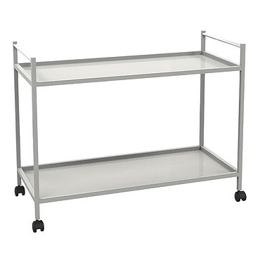 Medical trolley with 2 shelves