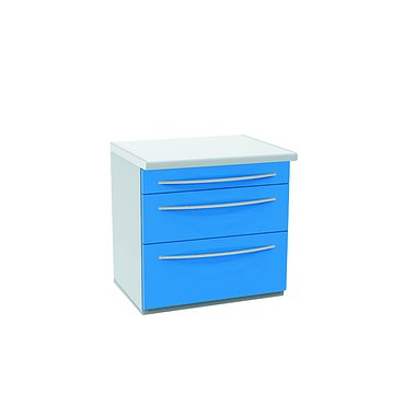 Wall mounted medical drawer unit