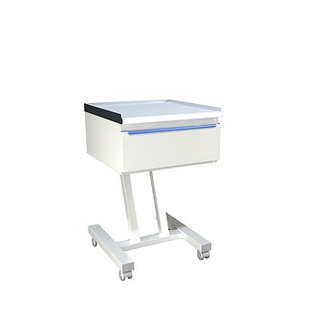 Mobile desk for doctor with drawer
