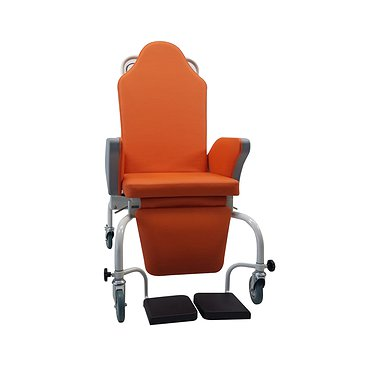 Medical chair for transportation and rest of patients with rehabilitation