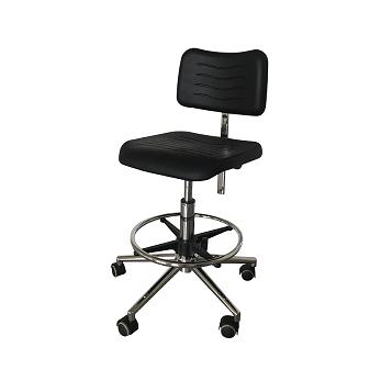 Laboratory chair with hight regulation