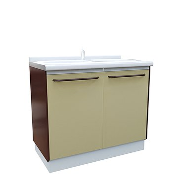 Medical  drawer unit with double  sink
