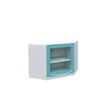 Wall mounted medical cabinet (corner)