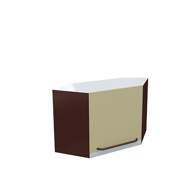 Wall mounted corner cabinet