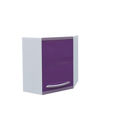 Wall mounted corner medical cabinet