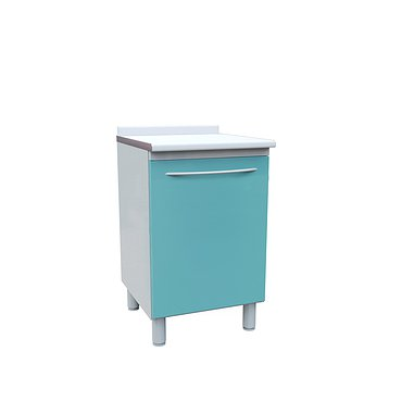 Medical cabinet with door and shelf