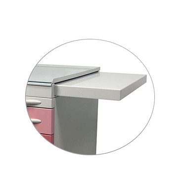 Extendable shelf for mobile doctor tables