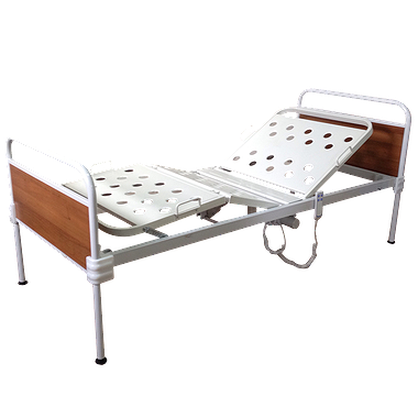 Bed with fixed backs
