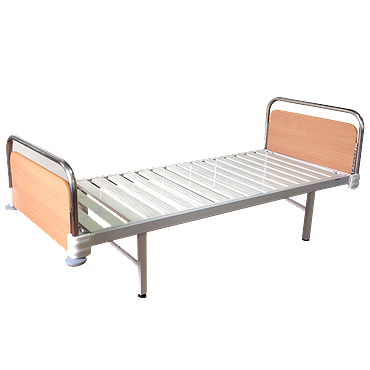 Single-section bed with quick-detachable backs