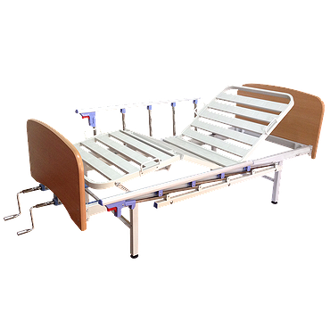 4-section bed with quick-release backrests