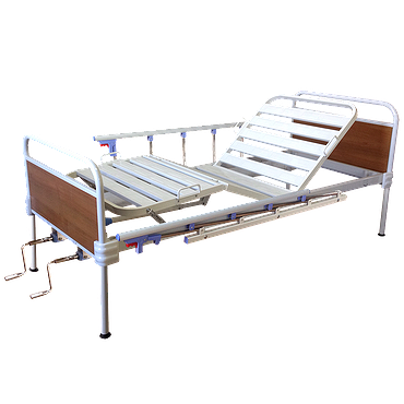 Bed with fixed backs and side rails