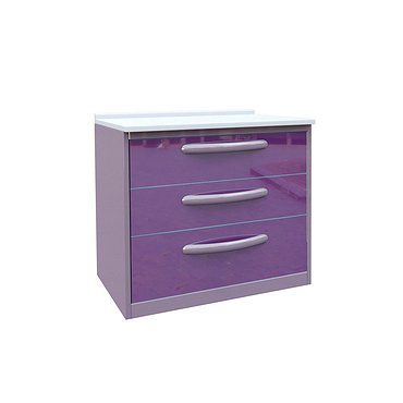 Medical drawer unit with 3 drawers
