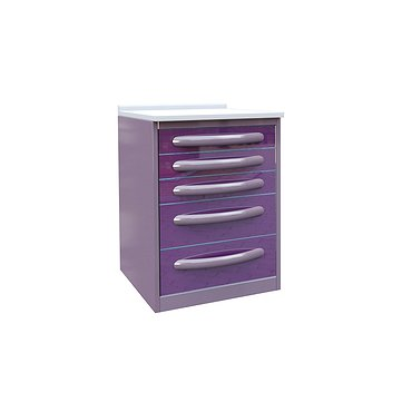 Medical drawer unit with 5 drawers