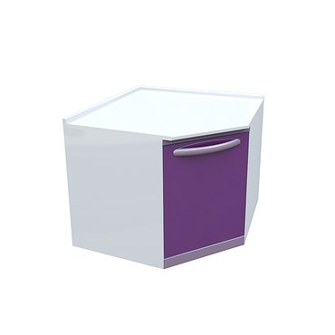 Medical drawer unit (corner)