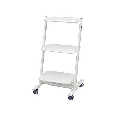 Trolley for medical equipment with sockets