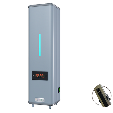 Bactericidal air recirculator with 1 lamp and remote controller