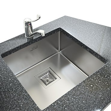 Glued double stainless steel sink