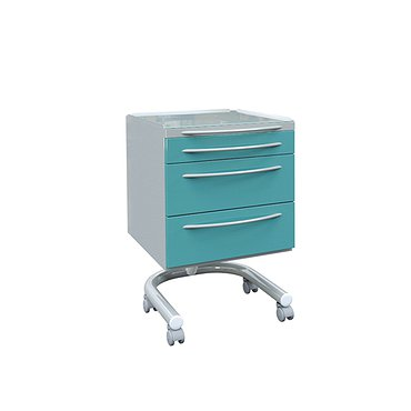 Mobile doctor's table with 3 drawers