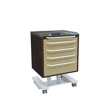 Mobile doctor's table with 4 drawers