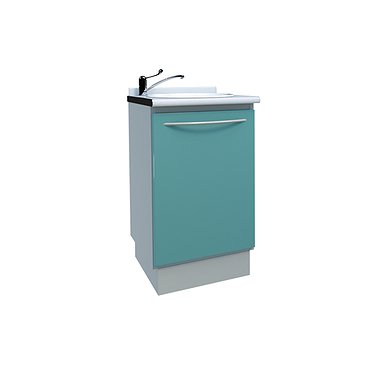 Module with sink and waste basket