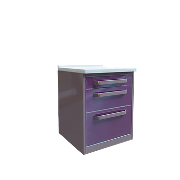 Module with 3 drawers