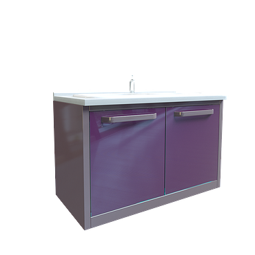 Module with double sink and waste basket