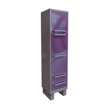 File cabinet with 3 doors, 2 drawers and 3 shelves