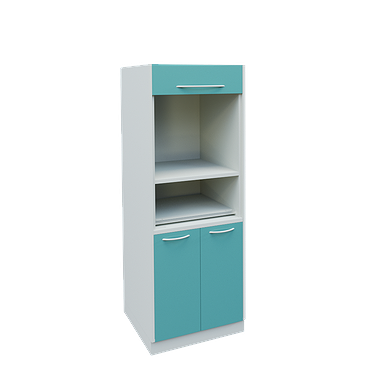 Narrow medical cabinet for sterilization