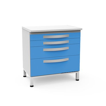 Medical drawer unit with 4 drawers