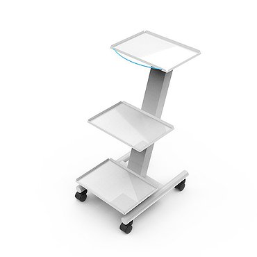 Medical mobile stand for auxiliary equipment