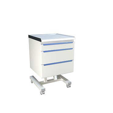 Mobile doctor's table with drawers