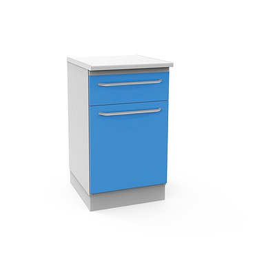 Medical drawer unit with drawer and shelves