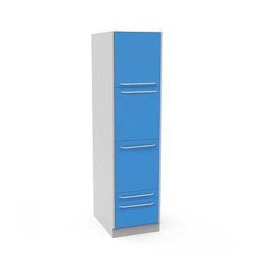 Medical cabinet with 3 doors, 2 drawers and 3 shelves